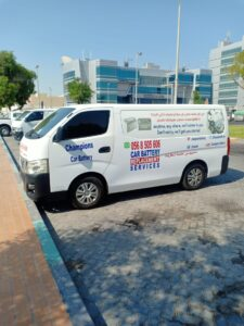 Car battery replacement service in Abu Dhabi